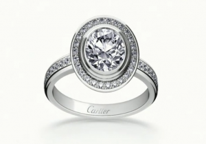 10. Cartier d'Amour solitaire paved with diamonds