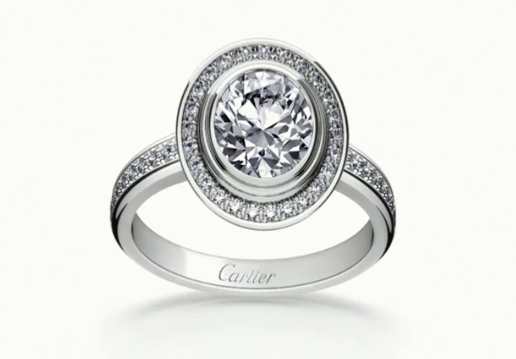 10 cartier damour solitaire paved with diamonds
