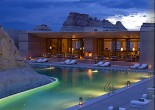 New stunning resort Amangiri is located in Canyon Point, Southern Utah, close to the border with Arizona. The resort is tucked into a protected valley with sweeping views.