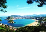 If you visit San Sebastian, you'll be enchanted with this place. There you can find mouth-watering food, scenic landscapes and best European white sandy beaches.