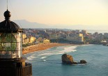 If you look for the place with the most wonderful beach, where you could take remarkable coastal walks – this is certainly Biarritz. It is located in the in southwestern France, 18 km from Spain.