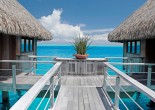Intercontinental Moorea Resort & Spa is a 4-star resort on the island of Moorea surrounded by lush tropical nature. It is an excellent retreat for newly-weds.