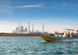 In May 2018, Abu Dhabi opened a suspension bridge allowing travelers to drive or cycle over the sea. On one side was Abu Dhabi's mainland -- home of its famous mosque and Louvre museum.